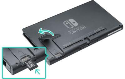 Nintendo Switch microSD Card installation