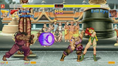 Watch Ultra Street Fighter II: The Final Challengers Switch Between Old School and HD Graphics